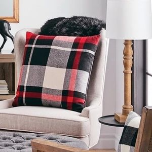 Other - (3) HUGE Plaid Throw Pillows Home Decor
